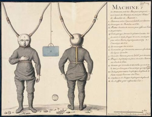 One of the first diving dress from Pierre Rémy de Beauve