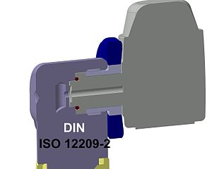 Cut plans of a DIN connection