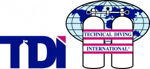 Logo for TDI or Technical Diving International scuba training agency