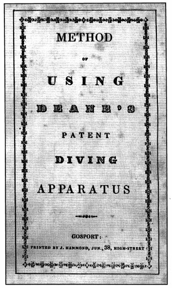 1836 Book Cover Method of using Deane's patent diving apparatus