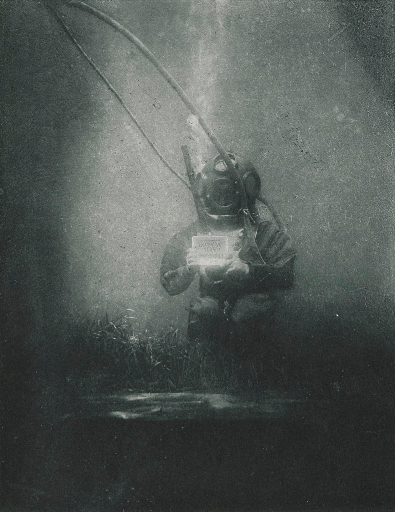 The first underwater photograph