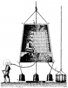 Edmond Halley builds the first air supplied diving bell
