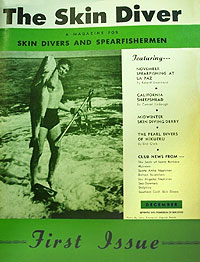 Cover of the first edition of Skin Diver magazine in December 1951