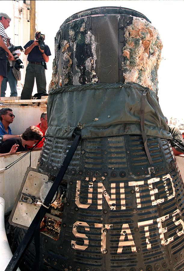 Photo of The Liberty Bell 7 after its recovery at 4890m / 16043ft