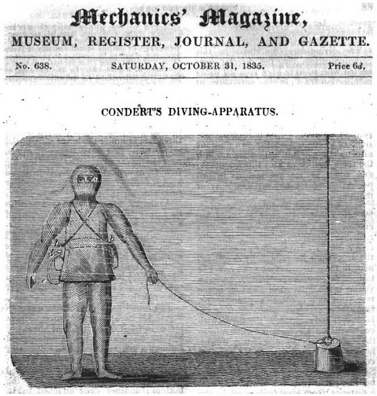 Mechanics' Magazine 1835 Condert scuba