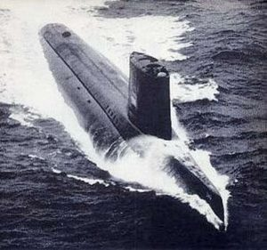 Photo of the USS Triton (SSRN-586) nuclear submarine