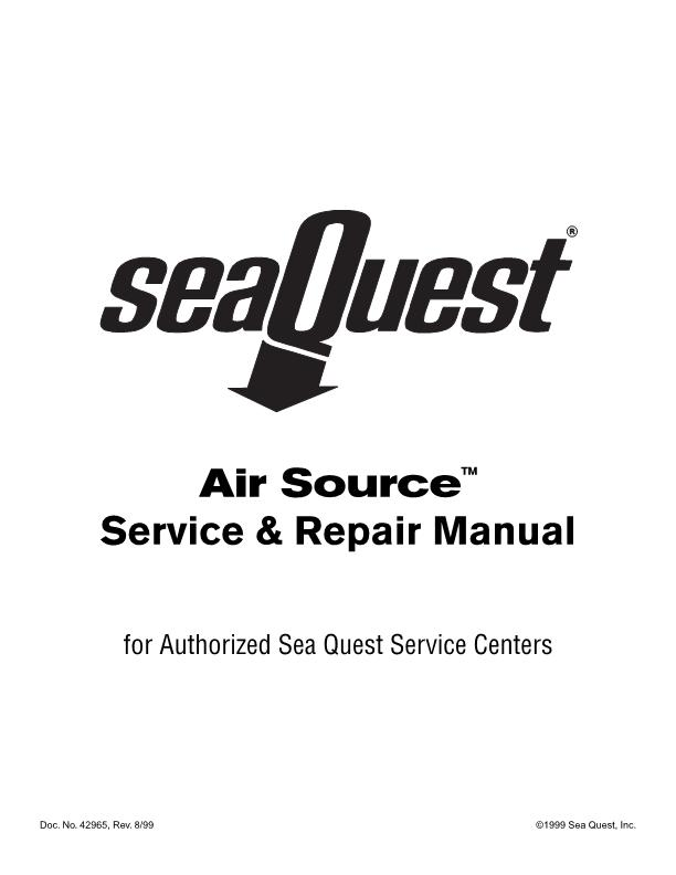 Aqualung / Sea Quest – Airsource – Regulator Second Stage – Service Manual – 1999 – EN