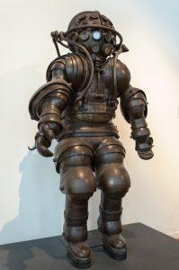 Photo of Atmospheric Diving Suit ADS from Carmagnolle brothers 1882 - Musée national de la Marine, Paris, France