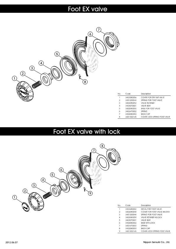 Apollo – Foot EX Valve / Foot EX Valve with lock – Valve – Schematic – 2012 – EN